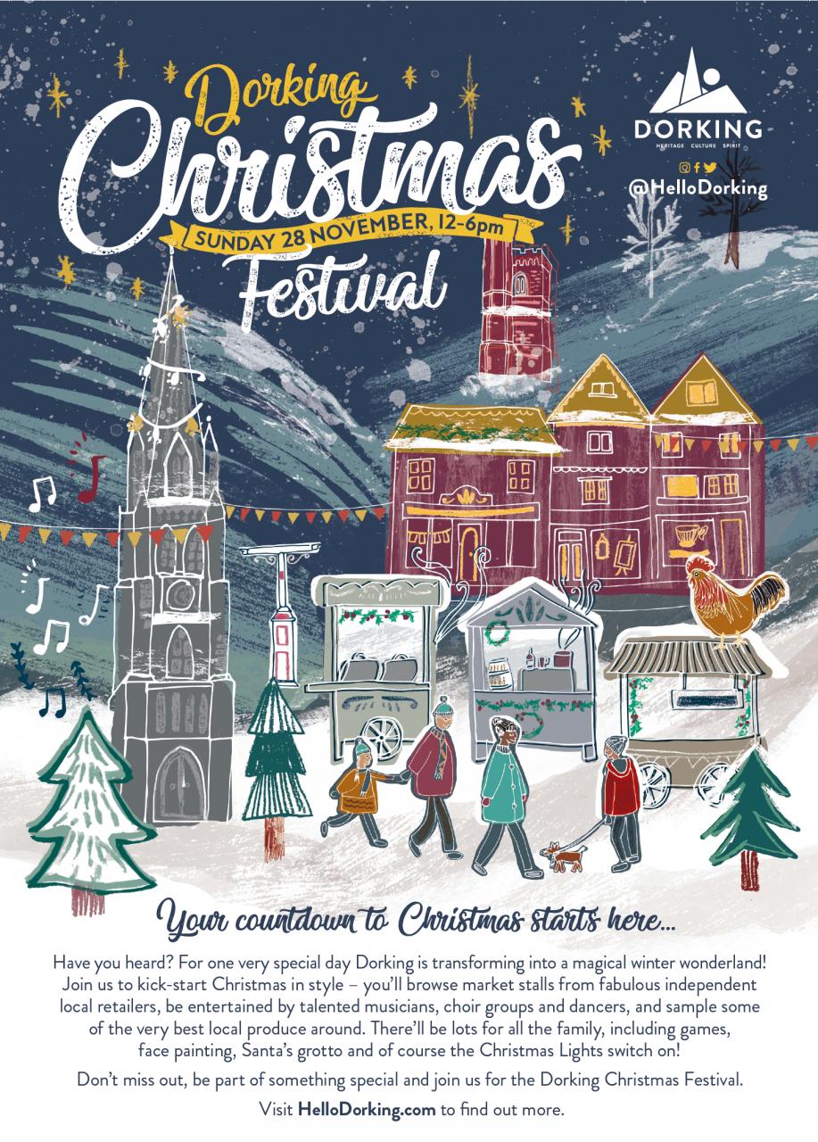 A4 Christmas festival poster